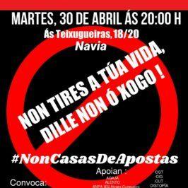 Concentración en Navia (Vigo) contra a apertura dunha casa de apostas en zona infantil.