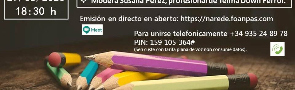 Vídeo do Webinar: A inclusión que necesitamos a debate. Con Nacho Calderón, Alejandro Calleja e Susana Pérez