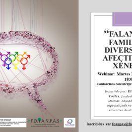 Webinar: FALANDO EN FAMILIA DA DIVERDIDADE AFECTIVA E DE XÉNERO